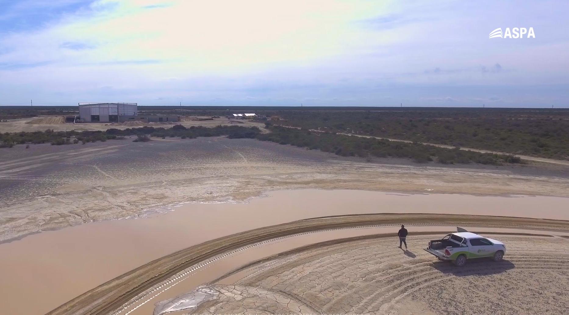 El futuro parque eólico en Las Grutas